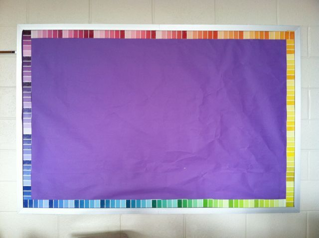 bulletin board border using paint samples