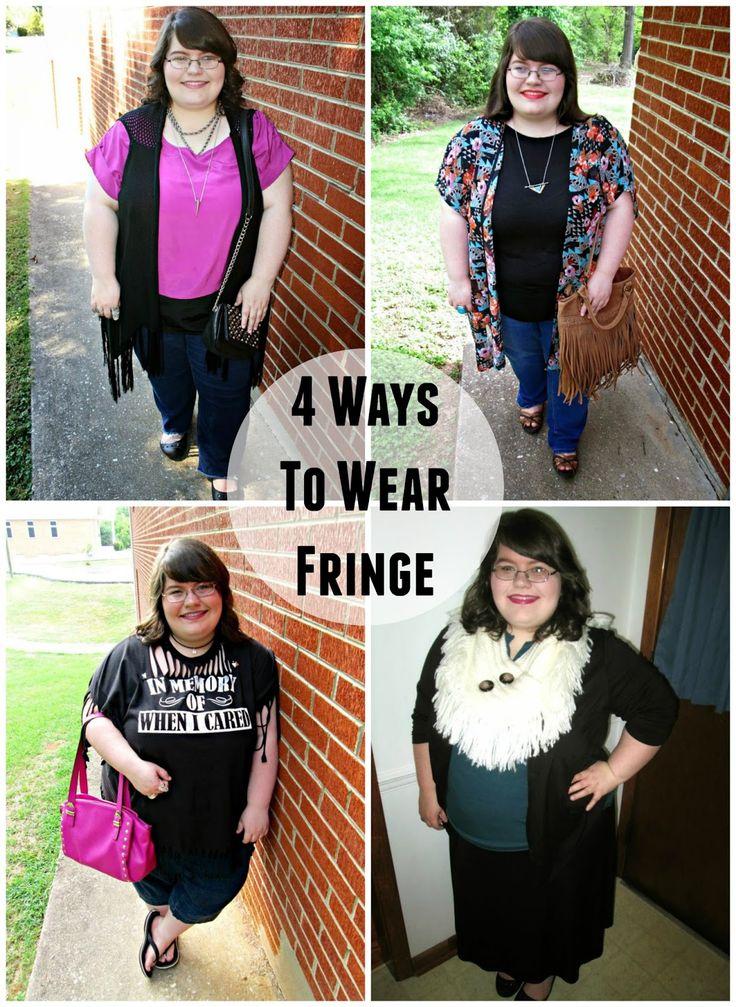 Unique Geek: 4 Ways To Wear Fringe #plussizefashionblogger #plussize #plussizefashion #fringe #falloutfits