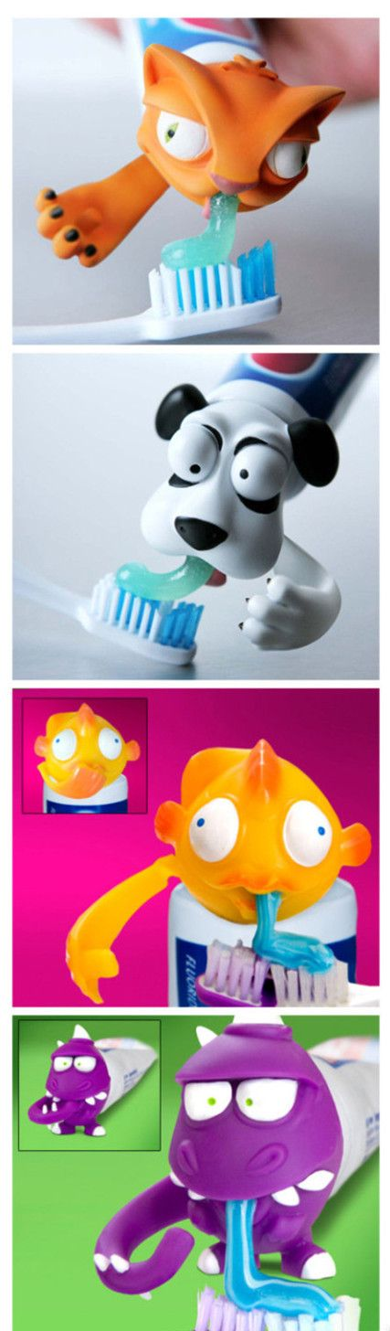 Something like this is great for kids who don't brush their teeth often. There could be great marketing with characters for this.