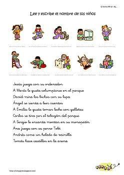 Cositas de AL y PT: Comprensión niños y acciones