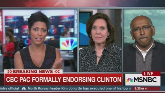 It didn't take many words for MSNBC's Tamron Hall to make Michael Steele look foolish for the Republicans refusal to engage with the black community.