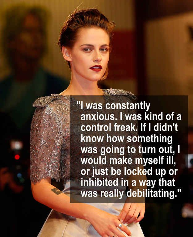 Kristen Stewart opened up to Marie Claire about dealing with anxiety in the past.