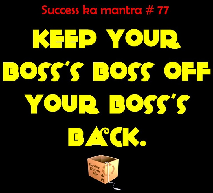 Keeping the spirit of ' Boss's day ', here's  something that is a sure shot mantra for success... pinned with @PinvolveLove