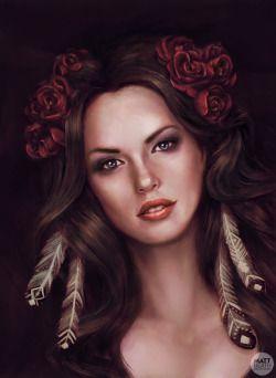 Roses portrait - digital sketch.