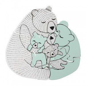 Family Bear Wooden Puzzle