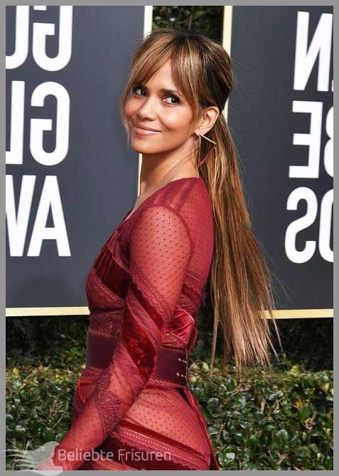 Low ponytail hairstyles, from celebrities