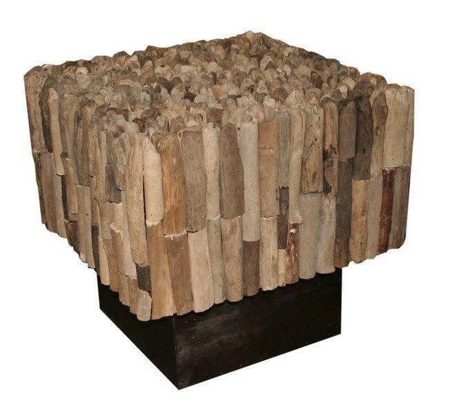 Home :: Furniture :: Living Room Furniture :: Side Tables :: Driftwood Manhattan Side Table