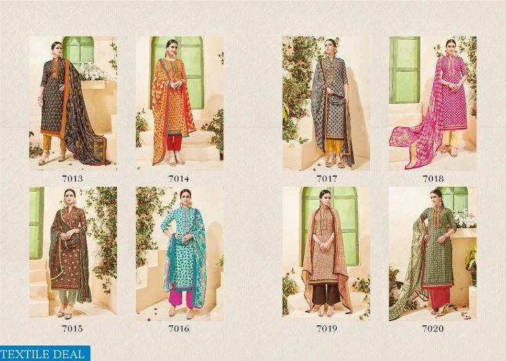 PRODUCT CODE: LEVISHA RUBY VOL-3 WHOLESALE ETHNIC DRESS MATERIAL Catalog pieces: 8 Full Catalog Price: 5200 Price Per piece: 650 MOQ: Full catalog Fabrics Detail Top :- cambric cotton print With Embroidery Bottom :- cotton dyed 2.75 meter approx Dupatta :-chiffon printed with lace   Shipping Time: 4-5 days Sizes:Material Ready To Dispatch  VISITE OUR WEBSITE- http://webfab.in/wholesale-product/Salwar-Suits/levisha-ruby-vol-3-wholesale-ethnic-dress-material-levisha-ruby-vol-3-full-catalog-set…