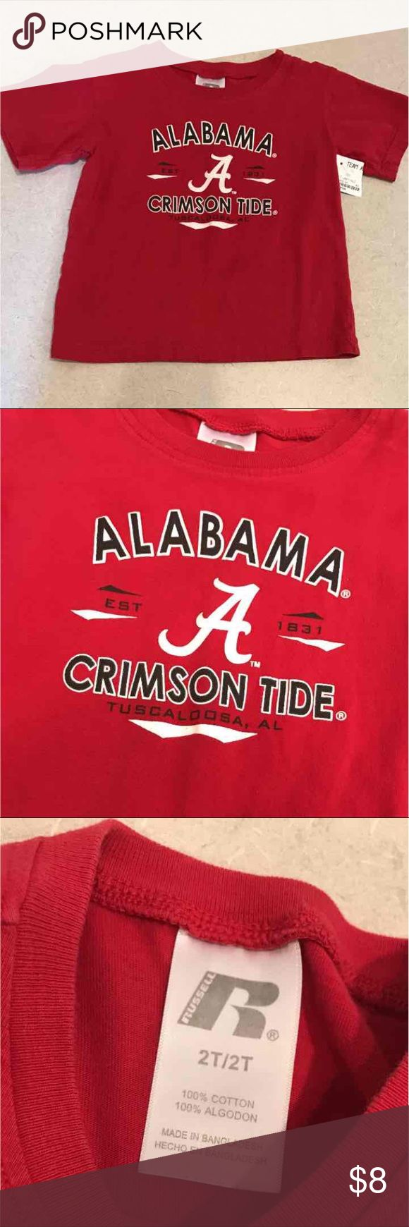 Alabama Shirt Good Condition size 2T Shirts & Tops Tees - Short Sleeve