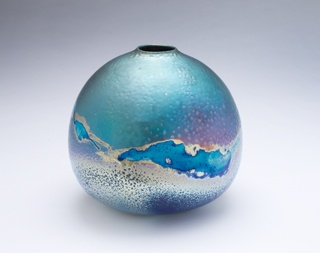 Sabbia Gallery :: Artists Greg Daly  Breaking Cloud 2013 Lustre glaze ceramic 24 x 27cm