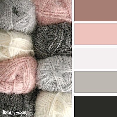 Blush pink, grey, taupe color palette