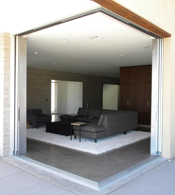 8 best corner opening pocket doors images on pinterest for Corner sliding glass doors