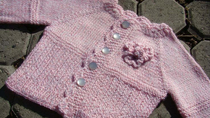 Free Knitting Pattern - Baby Sweaters: Pretty in Pink Cardigan