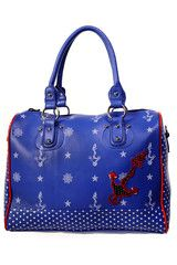 Blue Anchor Handbag
