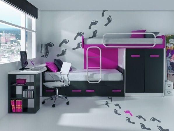 M s de 25 ideas incre bles sobre habitaciones juveniles - Camas juveniles modernas ...