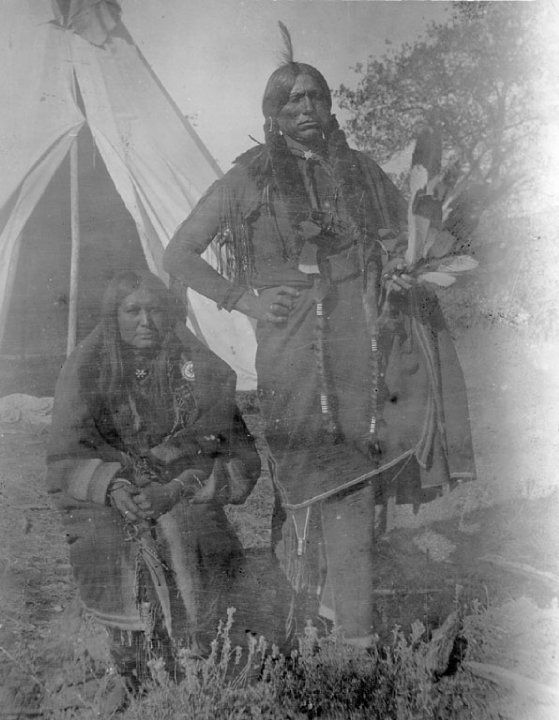 QUANAH AND HIS WIFE TONARCY , 1892