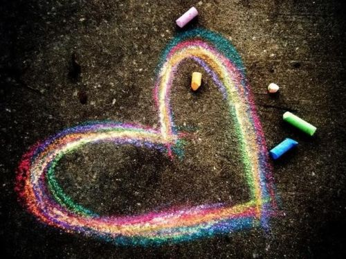 Colors!: Sidewalks Chalk Art, Families Pictures, Jars Of Heart, Rainbows Color, Heart Art, Chalk Heart, Sidewalk Chalk, Things, Memories