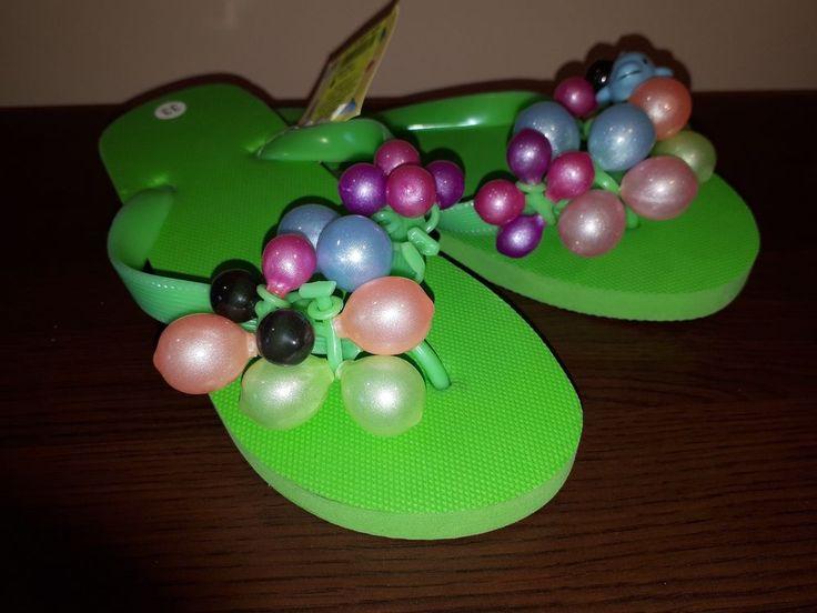 Girls flip flop colour green slipper (EU) 33 (UK) 1 (USA) 1.5Y free ship #Unbranded #Slippers