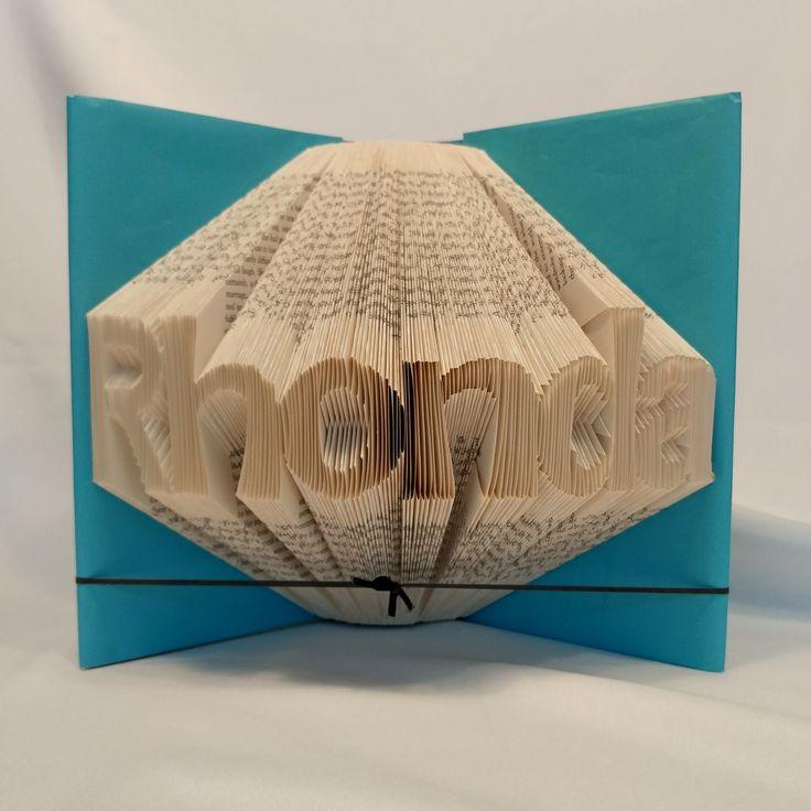 Custom name or word, Shadow books, folded book art, birthday, wedding, anniversary by MoonShadowBooks on Etsy
