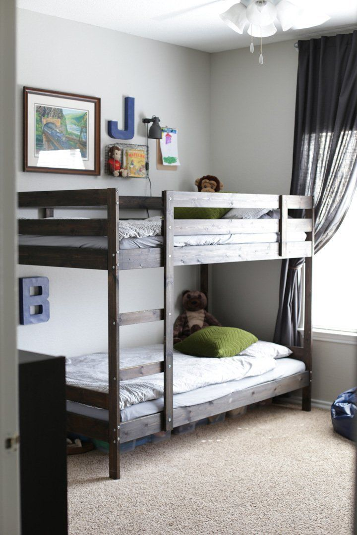 Comfort & Simplicity in a Room for Four Brothers. Ikea Boys BedroomBoys  Bedroom Ideas With Bunk BedsBunk ...