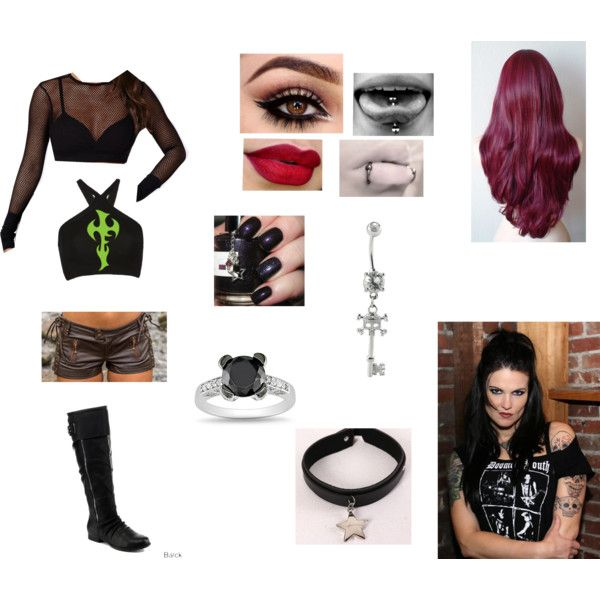 WWE Lita inspired attire by sleepingxwithxrebels on Polyvore featuring Missguided, Helmut Lang and Ice