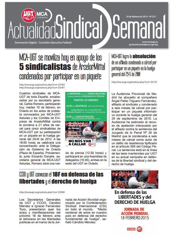 Ha salido Actualidad Sindical Semanal 323  http://mcaugt.org/noticia.php?cn=22201