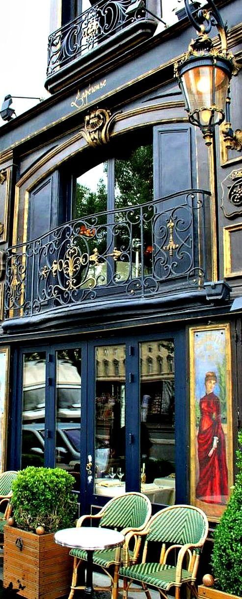 Paris in Green and Black / Restaurant Laperouse, Paris. One of the most beautiful old restaurants in Paris.