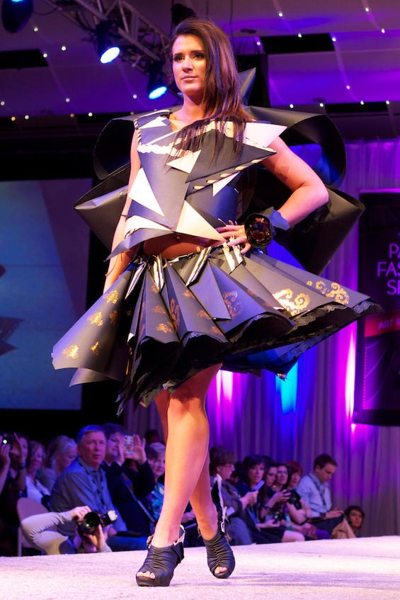 Paper dress fashion show denver