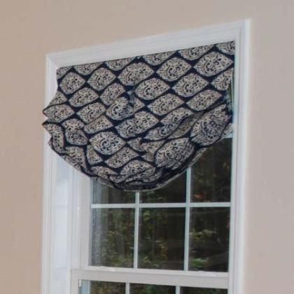 Relaxed Roman Shade House Pinterest Valance Relaxed