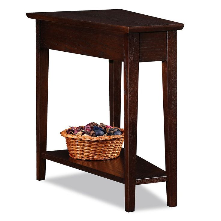 Leick Furniture Wedge End Table, Brown