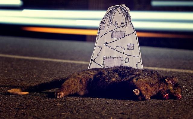 #barek #streetart  lost friend by *Barek*, via Flickr