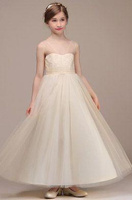 58dd286fd eDressit Robe de Demoiselle d'Honneur V-Col Beige (27194014) | Dresses in  2019 | Girls dresses online, Flower girl dresses, Dresses