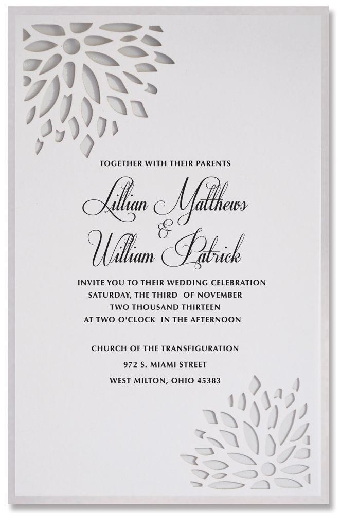 Modern Wedding Invitations, Dahlia Invite   Paper Orchid