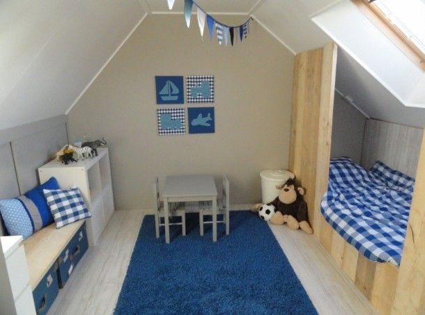 17 best images about slaapkamer 2 on pinterest kid beds loft beds and boy rooms - Blauwe kamer jongen ...