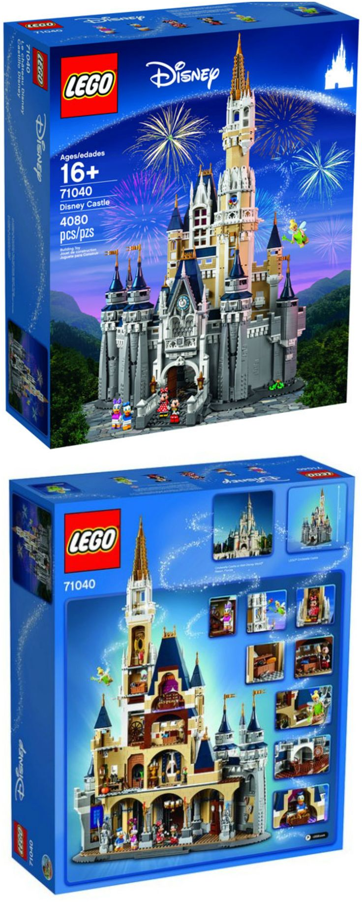 LOOK WHAT I FOUND: Lego Disney Castle Set 71040. Great gift idea for EVERY single Disney fan, be it man, woman or child. LOVE the details.