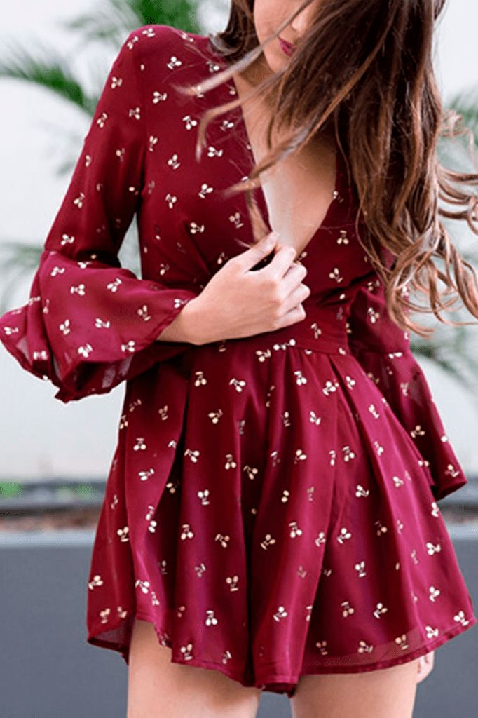 Cherry Playsuit
