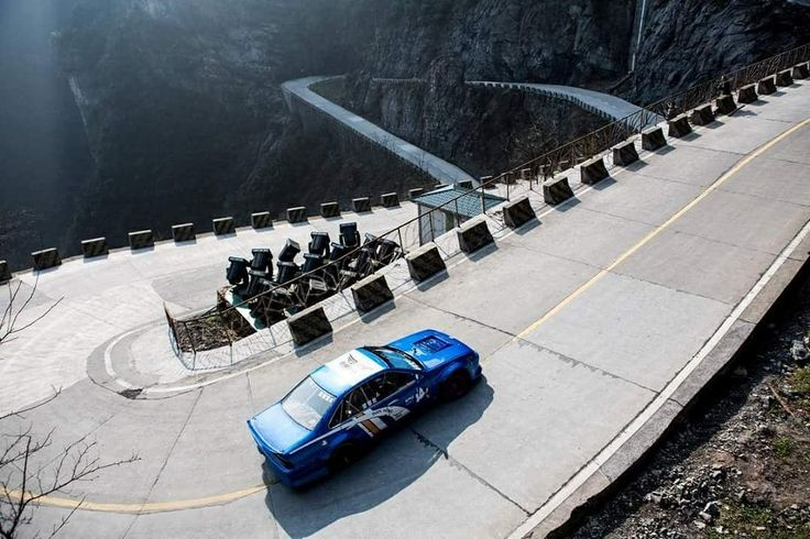 Race like a girl - Chinese drift racer challenges hair-raising 99-bend road