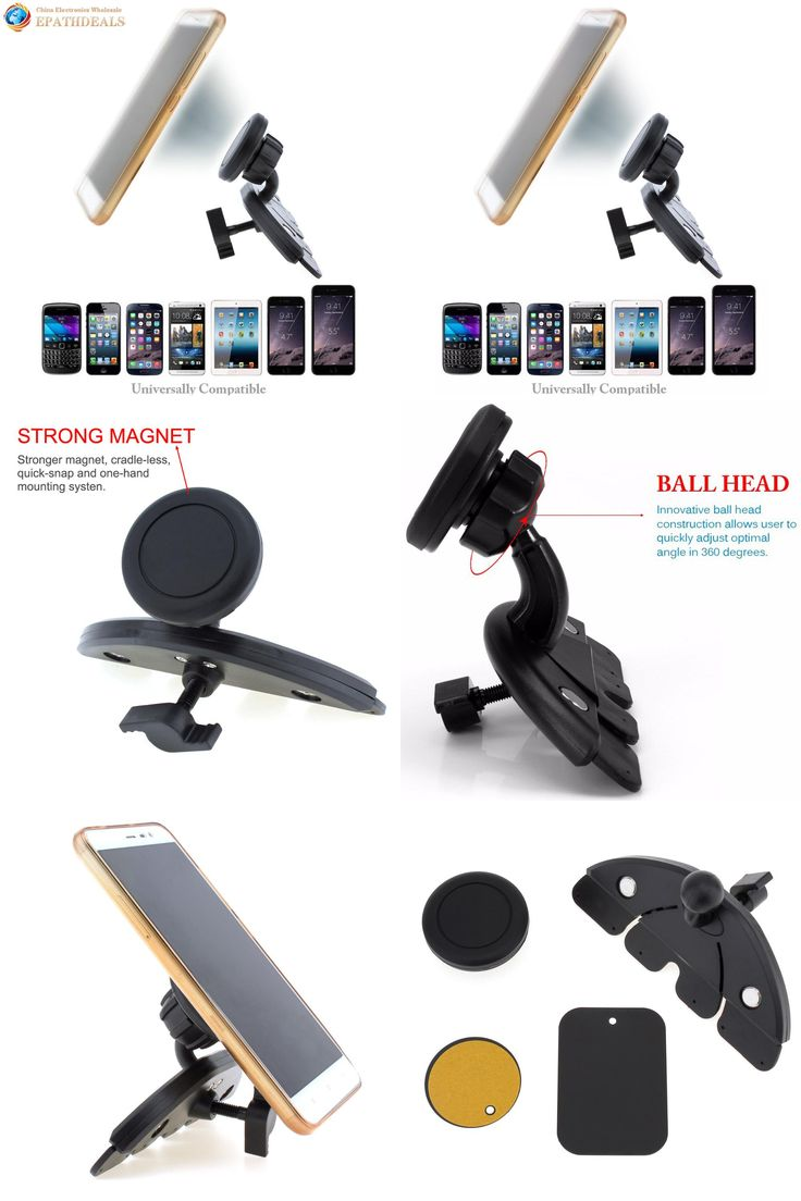[Visit to Buy] Auto Car CD Player Slot Magnetic Phone Mount Holder for iphone iPad Mini Air Tablet GPS Mobile Cell Phone Stand Bracket #Advertisement