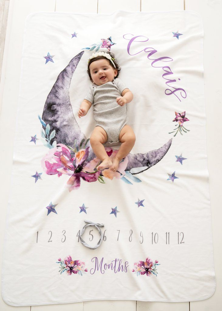 Baby Blankets and Gifts Baby Shower Gift Baby Girl Gift Boho Baby Milestone Baby Blanket New Parents Gift Baby Blanket