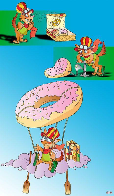La dolce #mongolfiera. #Illustration for #children. #illustrazione per bambini. Illustrator + Photoshop