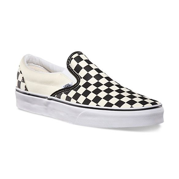 #VansBTSsweeps Can't go wrong with a classic. Vans Checkerboard Slip-On