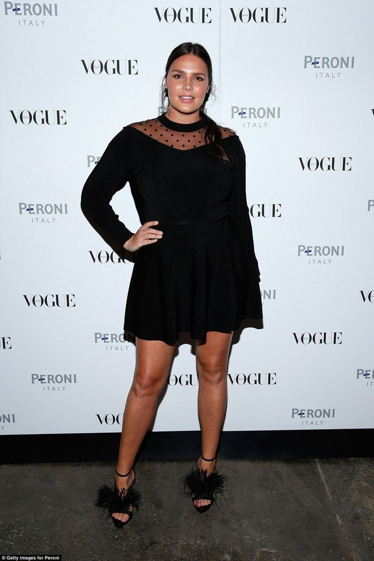 Candice Huffine attends The Visionary World of Vogue Italia Exhibition Opening Night in Ne...