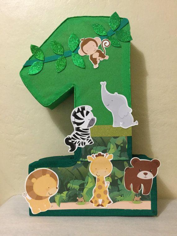 Piñata de selva. Piñata de animalitos por aldimyshop en Etsy