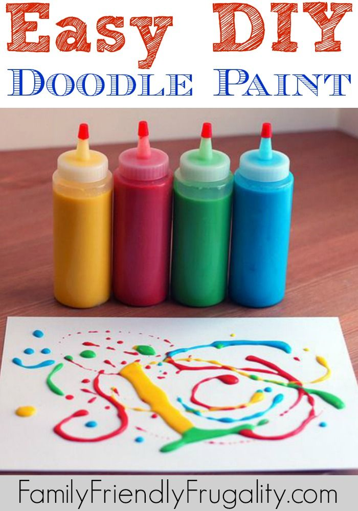 4 ingredient DIY Doodle Paint!  It's a really fun activity though and if you can include your children in the making of the paint, it will make the experience that much more special!