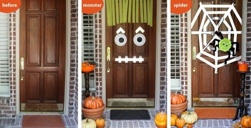 Easy DIY Halloween Door Decor Ideas | Living Locurto - Free Printables,