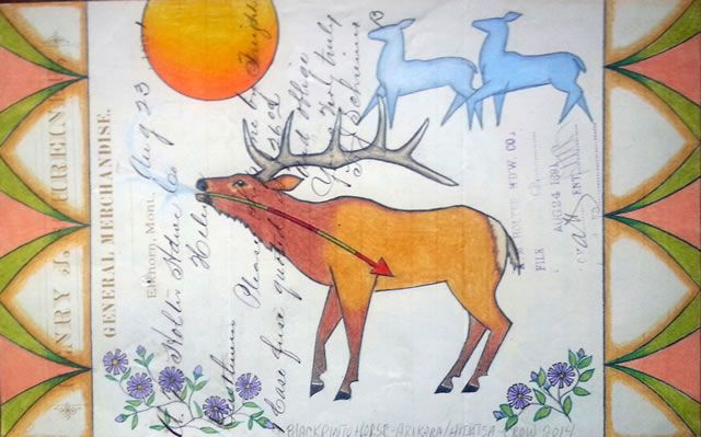 Ledger Art Of Elk : Best images about native american art on pinterest