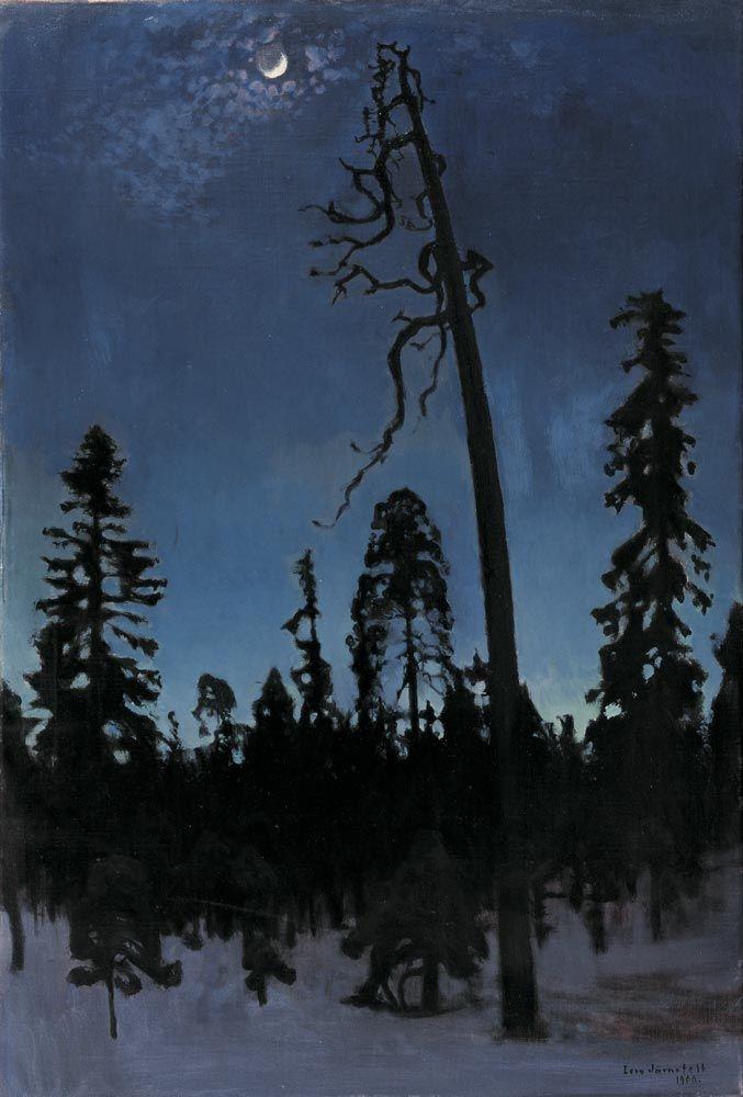 Eero Järnefelt, Talvimaisema, öljy kankaalle 1900, Taidesäätiö Merita. Kuva: Taidesäätiö Merita.