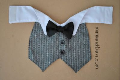 Dog Tuxedo Vest Pattern | Mimi & Tara | Free Dog Clothes Patterns