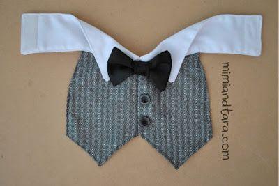 Dog Tuxedo Vest Pattern | Mimi & Tara | Free Dog Clothes Patterns