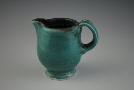 Creamer or Small Pitcher, Blue/Green